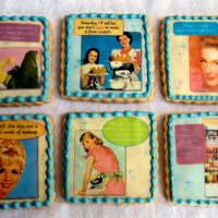 Desperate Housewives Cookies.   Sugar cookies with retro edible images.