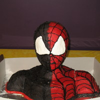 Spiderman/venom Cake My son's 5th bday cake