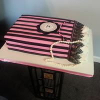 Pink N Black Bag For my moms best friend turning 85.