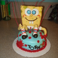 Spongebob RCT Spongebob. Choc cake with lemon BC filling