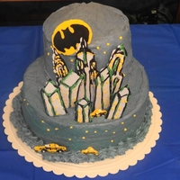 Gotham City My son's 6th birthday cake.