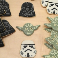 The Force Be With You! Cookies for my cousin's son's birthday.