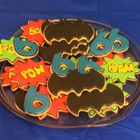 Batman! Cookies for my son's 6th birthday.