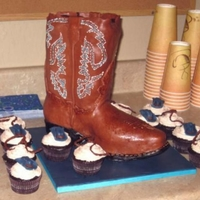 3D Cowboy Boot With Piped Stitching This was made for my daughter's birthday. She said I needed a challenge! Thankfully sugarlaced had some wonderfully helpful...