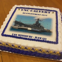 Us Navy Re Enlistment Cake US Navy Re Enlistment Cake