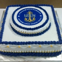 Navy Sr. Chief Promotion Cake