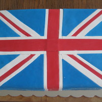 Royal Wedding Party A Union Jack cake made last week to celebrate the Royal Wedding in London. Us Brits had a party here in the US as we were away from home.