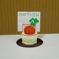 Basketball Cake This is a cake I made for a friend at work. Orginally she has asked for for a basketball themed cupcake cake. The day before she asked if I...