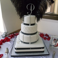 Black And White Bling Bling Cake