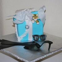 Breakfast At Tiffanys For My Audrey Hepburn Obsessed 14 Year Old Daughter Everything Is Edible Except The Rhinestone Pendant The Cat Is Breakfast at Tiffany's for my Audrey Hepburn obsessed 14 year old daughter. Everything is edible except the rhinestone pendant. The...
