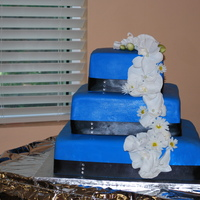 Blue Wedding Cake My first wedding cake.
