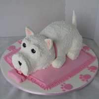 Scotty Terrier Cake 2nd Prize Royal Melbourne Show 2010 (Australia). Novice class-Novelty cake section