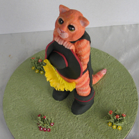 Puss In Boots 1st Prize Royal Melbourne Show 2010 (Australia). Novice class, Piece of sugarcraft section.