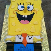 Spongebob Cake I made this buttercream Spongebob for my nephews 3rd birthday. It was all buttercream except for the fondant face, number and sign. It was...