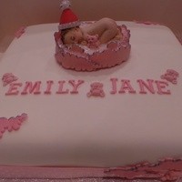 Emily Jane Sponge cake with sugar paste decorations for my new niece.