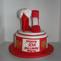 High Heel Shoes On Fondant Platform Cake Also On Fondant Platform With Edible Gold Paint *High heel shoes on fondant platform, cake also on fondant platform with edible gold paint