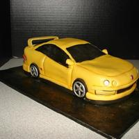 Acura Integra Type R Approx 11 Inches Long White Cake With Fondant And Gumpaste Details *Acura Integra Type-RApprox 11 inches long. White cake with fondant and gumpaste details.