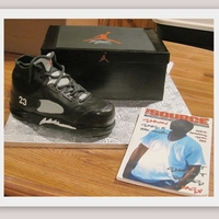Nike Sneaker/box And Magazine  Box is cake with edible image on top. Sneaker is carved RCT covered with GP. Magazine is edible image on GP. Sneaker was hard!!! My first...