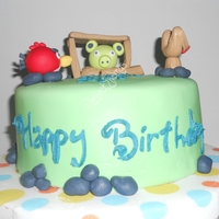 9Th Angry Bird Birthday Cake & Cupcakes