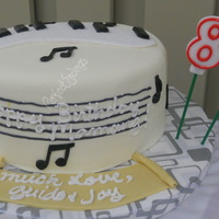 Music Lover Themed Birthday Cake