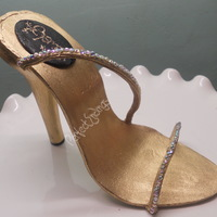 Jewelz stilettos in edible gold luster..my second one
