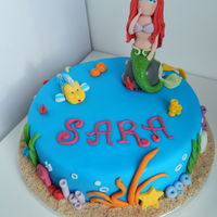 The Little Mermaid All sugarpaste, all edible.