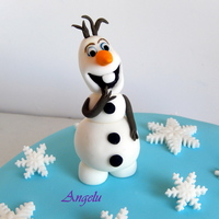 Frozen Cake Mud cake.All in fondant.