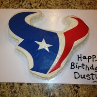 Houston Texans Birthday Cake WASC Cake with Buttercream Icing