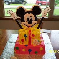 Mickey Mouse  I made this for my daughter's 1st birthday! I put together mickey's face at the last minute so it's not perfect, but all in...