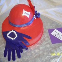 Red Hat  This cake I made for a seroius red-hatter! I got the idea from a google search on the internet. The red is buttercream and the gloves,...