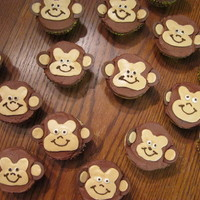 Monkey Cupcakes These were fun and easy. I just cut the faces free hand out of fondant. Melting the chocolate sounded too hard to me. Thanks for all the...