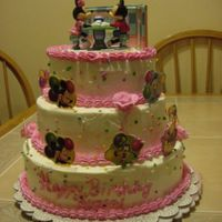 Mickey & Minnie Mouse Made this cake for my daughter's 4th b-day. She wanted the Mickey Mouse Clubhouse. But I found this cake top and just loved it. She...