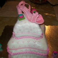 Pillow And Shoe Cake Daughter's 9th birthday cake