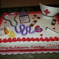 Nurse Cake Made this for a friend of mine. Everything was made out of Gumpaste or fondant. Buttercream icing .