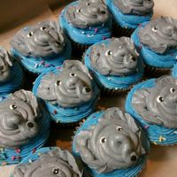 Elephant Cupcakes German Chocolate Cupcakes filled with German Chocolate Coconut Walnut Icing...and topped with Buttercream Elephants!