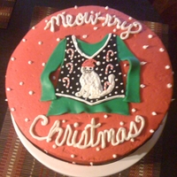 Ugly Sweater Cake   We had an ugly sweater party, and this was my cake!