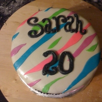 Zebra Birthday Cake   Zebra cake with different color stripes.