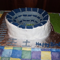 Cowboys Stadium In Dallas Tx For my brothers birthday he got to go to a Coyboys game at the new Cowboys Stadium. I made a replica of the stadium usings BC frosting. The...