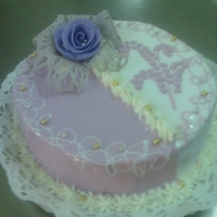 Purple/white Cake