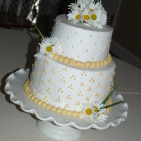 Daisy Cake   WASC cake with BC decorated with my Nana's favorite flowers, daisies, for her 75th Birthday