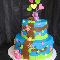 Twin Squirrels This cake was for a friend's twins first birthday. She calls them her little squirrels so that is what she wanted onthe cake. It is a...