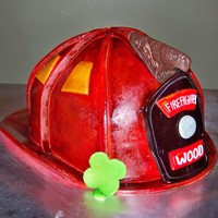 Firefighter's Helmet Cake This was made for a groom on his special day. It was a replica of his helmet. Eagle was created by making a mold and using chocolate....