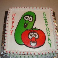 Veggie Tales Cake BCT cake I did for my niece's 3rd birthday. I love this technique! Thanks for all of the advice and inspiration CCer's! TFL!