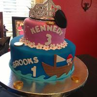 Princess/pirate Dual Birthday Cake