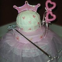 Princess Of Hearts   Buttercrem icing with fondant accents.