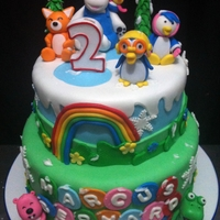 Pororo Themed Cake
