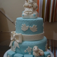 Precious Moments Dedication Cake All toppers are hand made from MMF