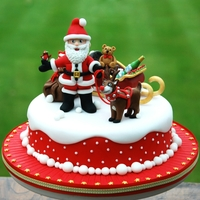 Lead The Way, Rudolf! Traditional fruit cake, covered with marzipan and sugarpaste. All decorations hand-modeled from sugarpaste, marzipan and modelling...