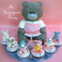 Tatty Teddy And Bluenose Cupcakes Chocolate sponge for the cupcakes and the teddy's body. The head is made from a stryofoam ball. The Bluenose figures are made from...