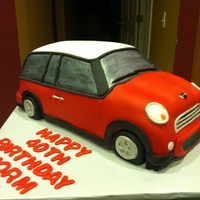 Mini Cooper Cake  My first truly carved car cake. Actually the day before it was supposed to be delivered, I received a call that the PT Cruiser cake that we...